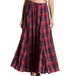 Melrose and Market Plaid Maxi Skirt Size M